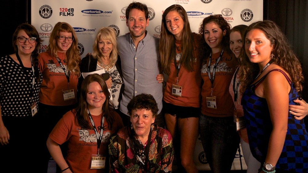 Paul Rudd with Staff at the 2013 Woodstock Film Festival.