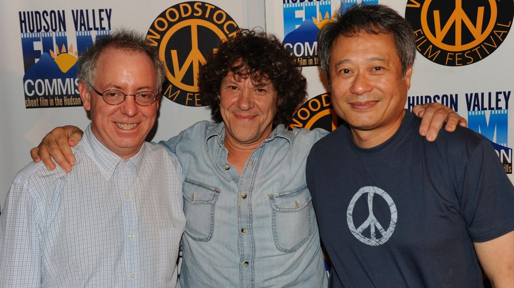 James Schamus, Michael Lang, and Ang Lee at a special advanced screening of Taking Woodstock in 2009.