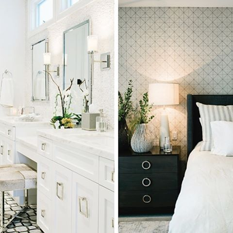 Master suite in a home I just finished and featured in the upcoming issue #southbayhomemagazine #excited #interiordesign #ilovemyjob #contemporary #white #marble #bedrooms #bathrooms #salzmandesignbuild