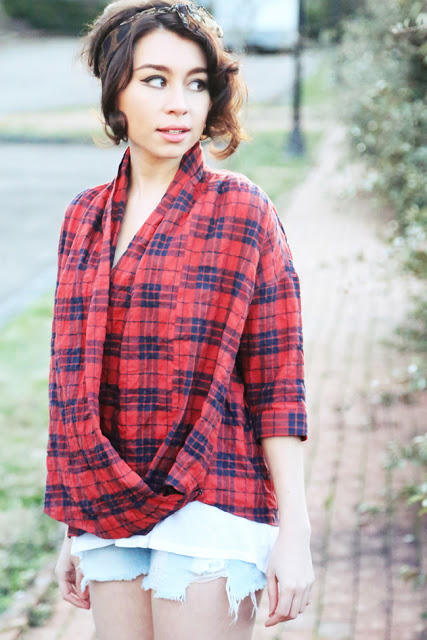 Guess Jeans_Boyfriend High Low Tank_alaLadywolf_whitney s Williams_flannel_vintage
