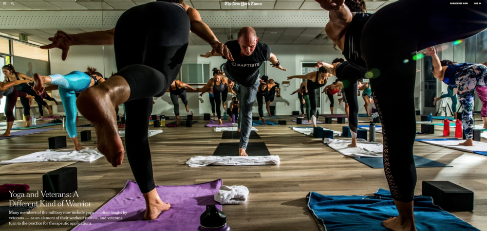 Featured in NYT - Veterans Turned Yogi