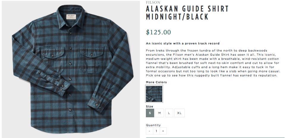 Men's Filson Alaskan Guide Shirt