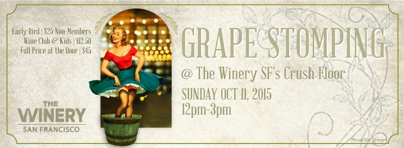 Before you watch the Blue Angels from Treasure Island, drink wine and stomp grapes! Proceeds from this event will go towards local charities. FYI - Early bird tickets going for $25 ends September 30. CLICK HERE FOR DETAILS AND TICKET SALES