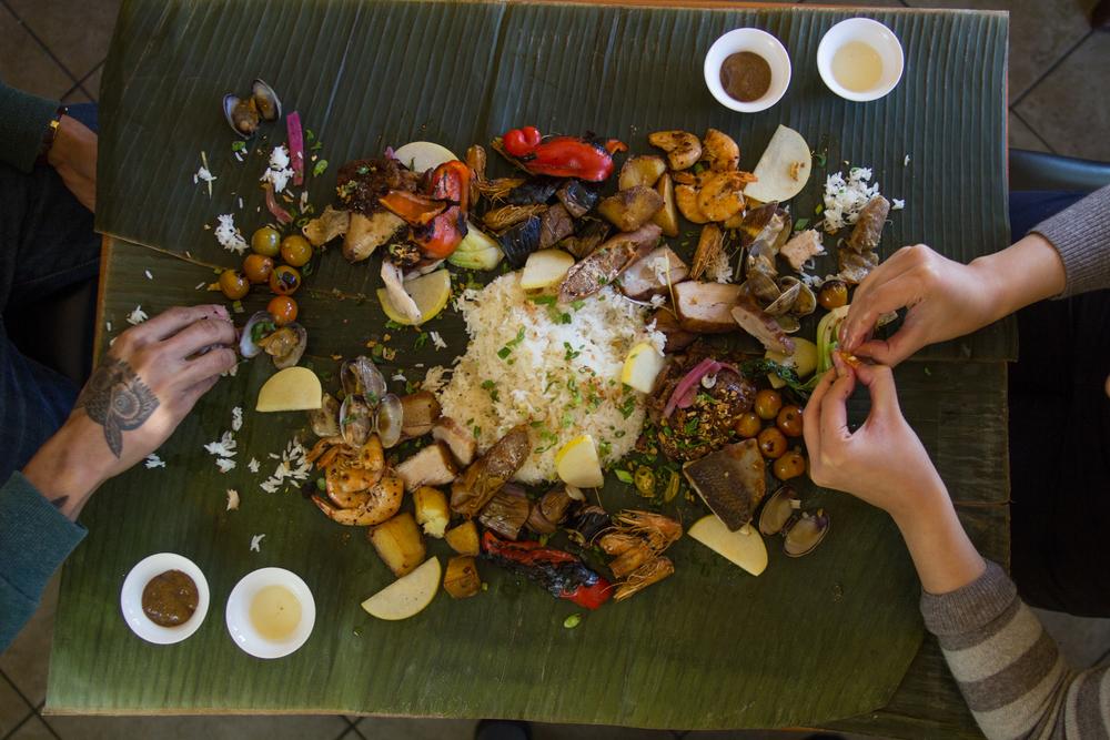 Pampalasa Restaurant - San Francisco's Premiere Kamayan (to eat with your hands)Filipino Restaurant.