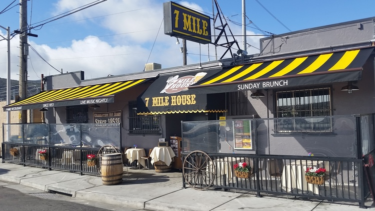 7 Mile House - The SF/Peninsula's historic Family and Dog-Friendly Restaurant, Sports Bar & Live Music Venue; serving American, Italian and Filipino food.