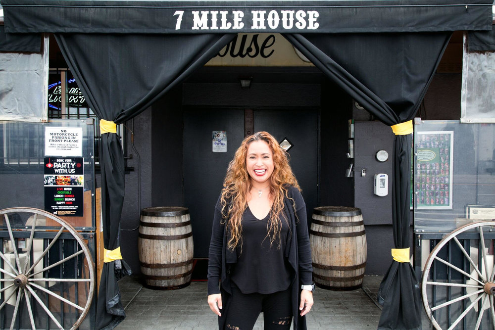 7 Mile House - 160 year old historic and award-winning 7 Mile House, a family and dog friendly restaurant, sports bar, and live music venue serving homestyle American and Filipino food. Owned by Vanessa Garcia, it is the Bay Area's last original mile house.