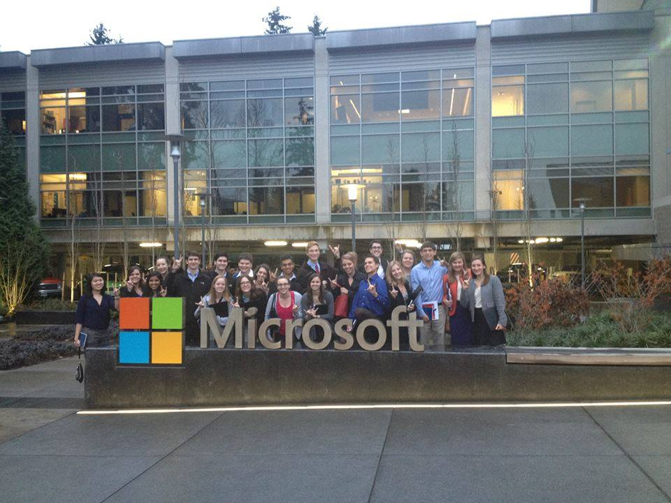 HBA members pose in front of Microsoft headquarters in Seattle during last year's CFT