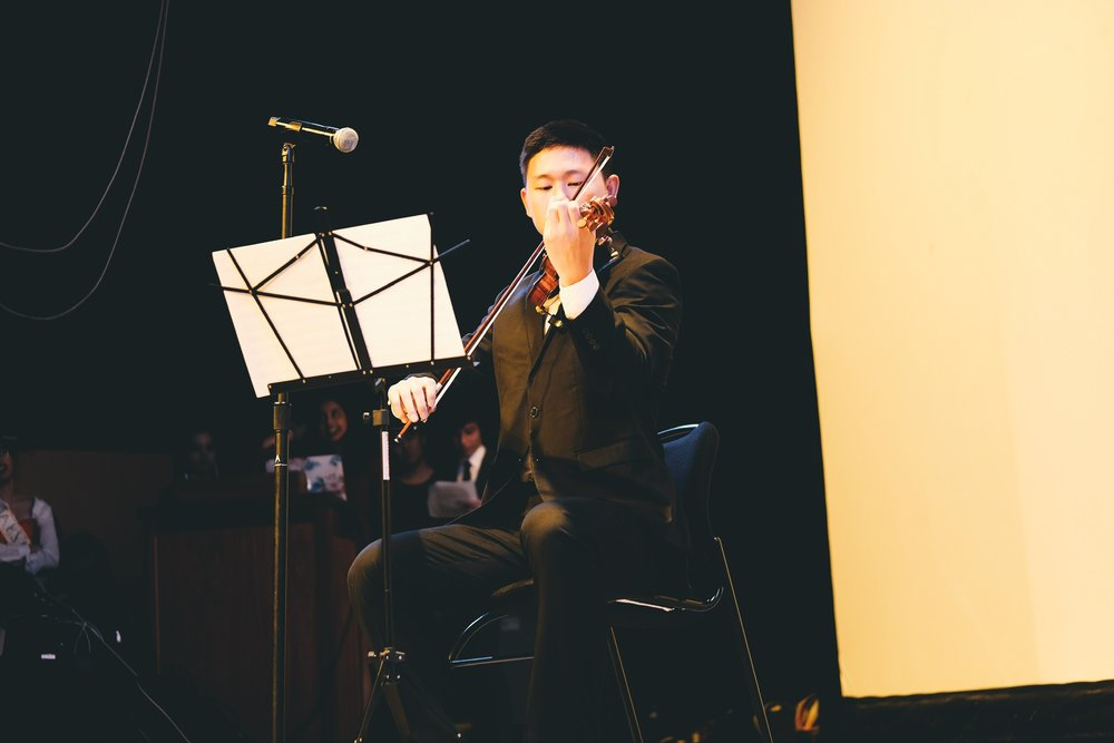 HBA's very own Anthony Tang did great and played Post Malone on violin.