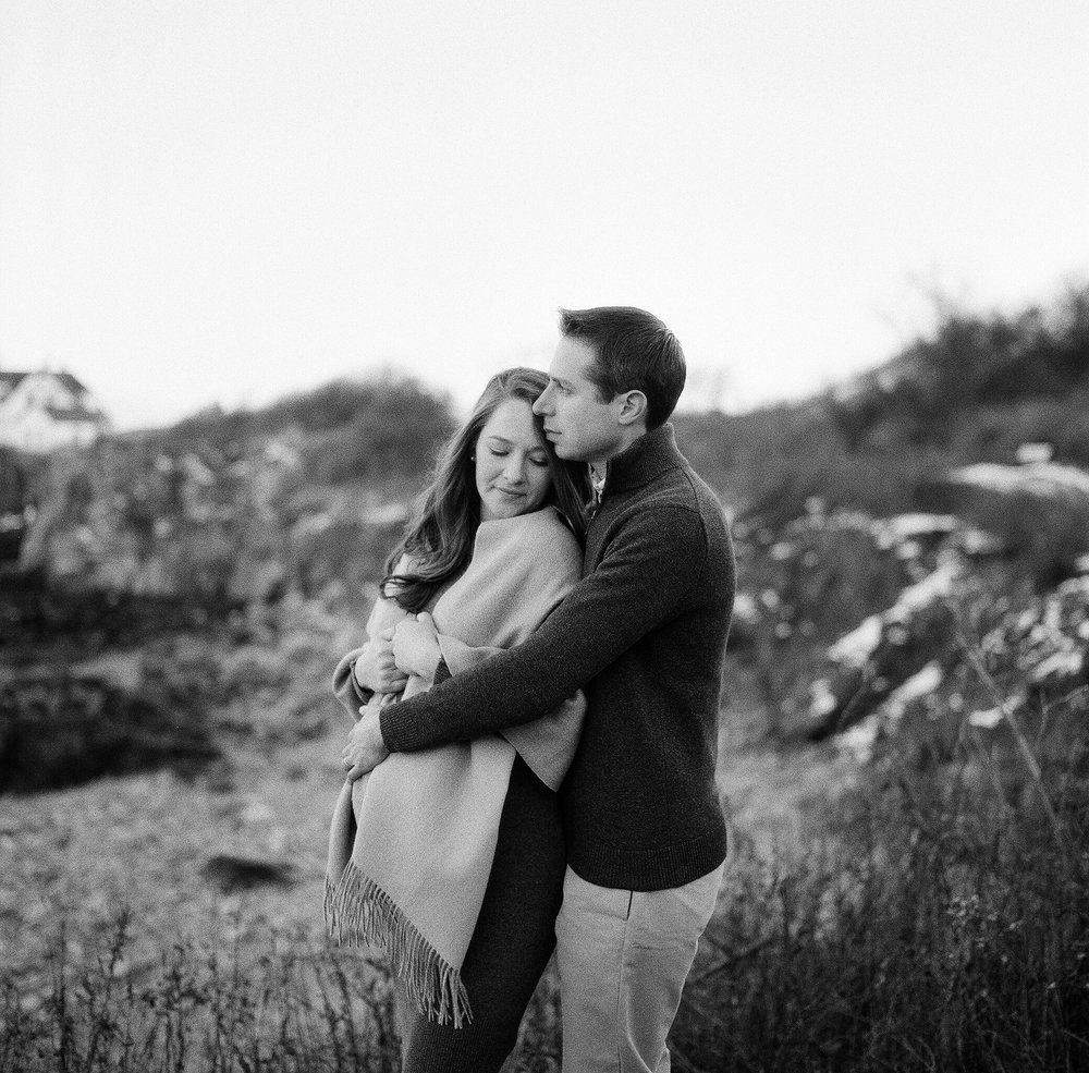 Portland Maine Black and White Film Maternity and Newborn Photography by Tiffany Farley