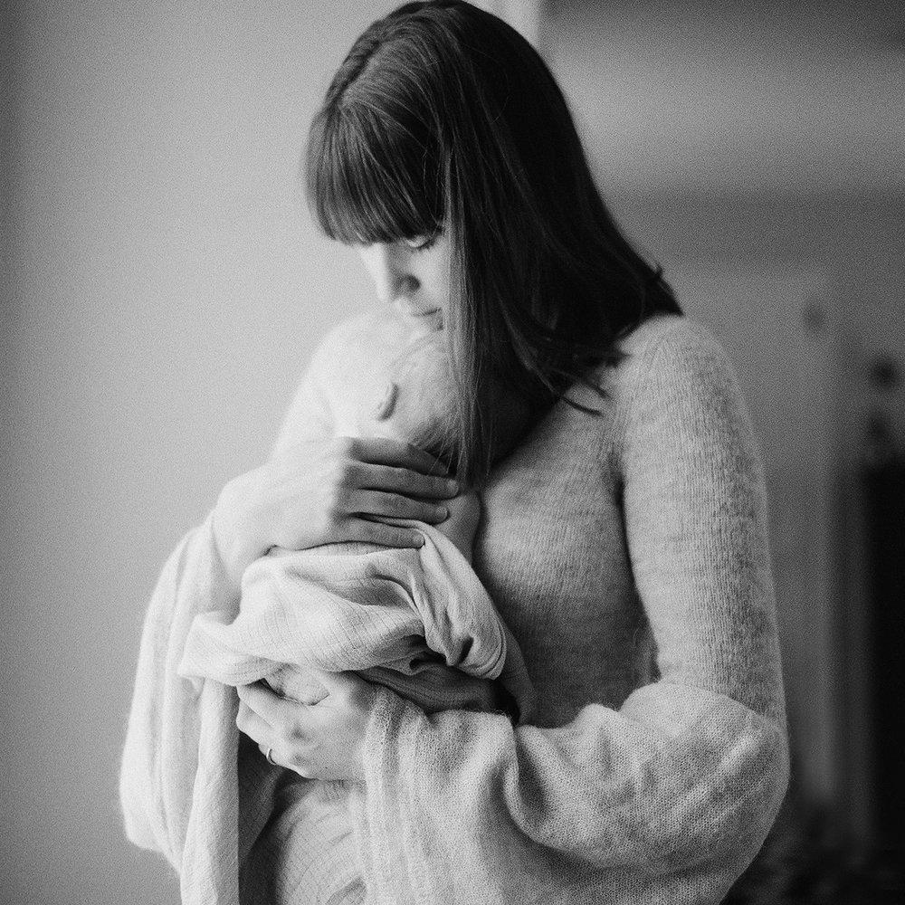 Portland Maine In Home Film Newborn Photographer Tiffany Farley
