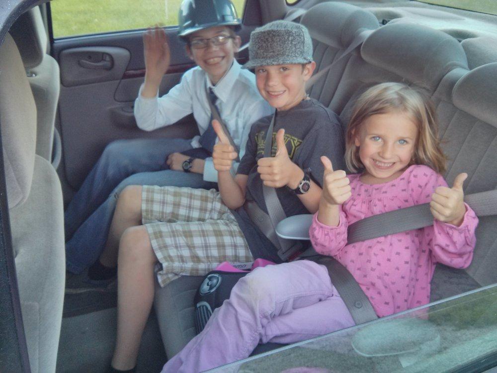 Stowaways in the car.