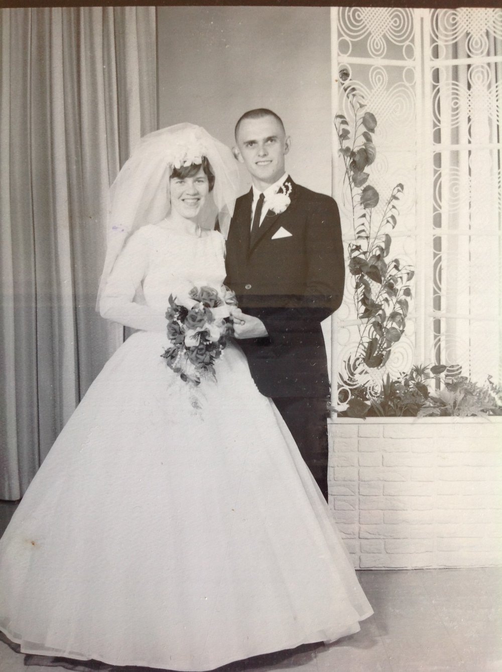 Christal's parents, 50 years ago