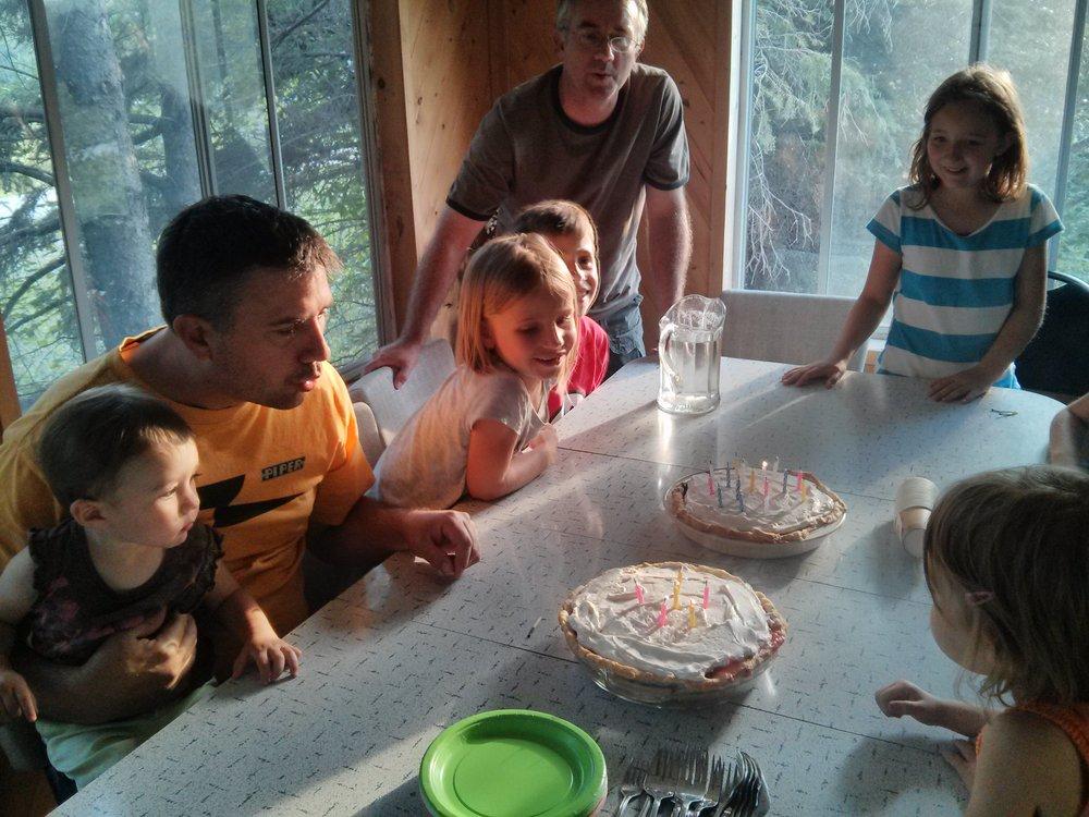 Celebrating three birthdays!