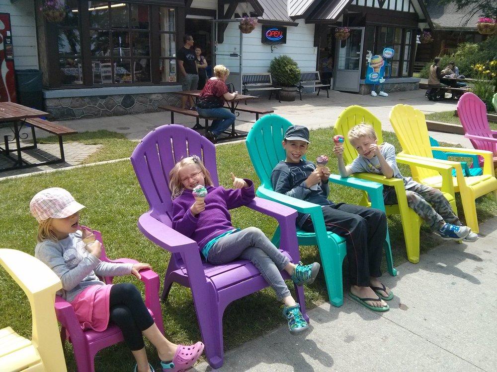 Ice cream at Clear Lake