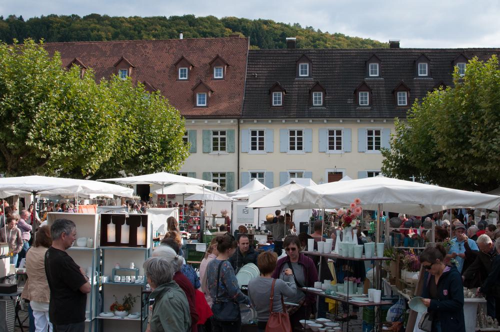 Overlooking the Blumenplatz turned pottery market