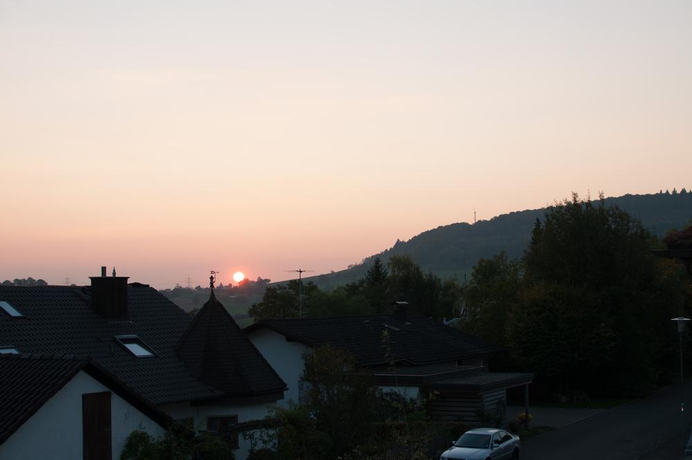 Sunset over Riedlingen