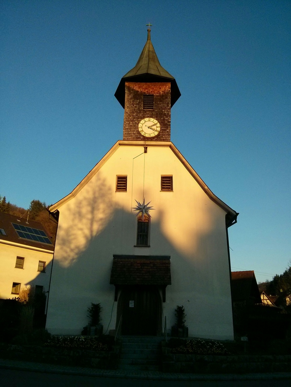 The church in Riedlingen (our little village)
