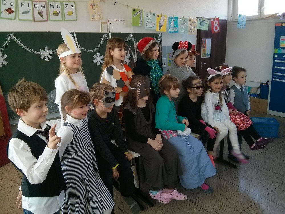 Nadia's class all dressed up