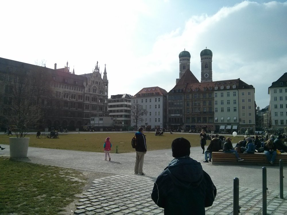 Frauenkirche towers in the background (Munich)