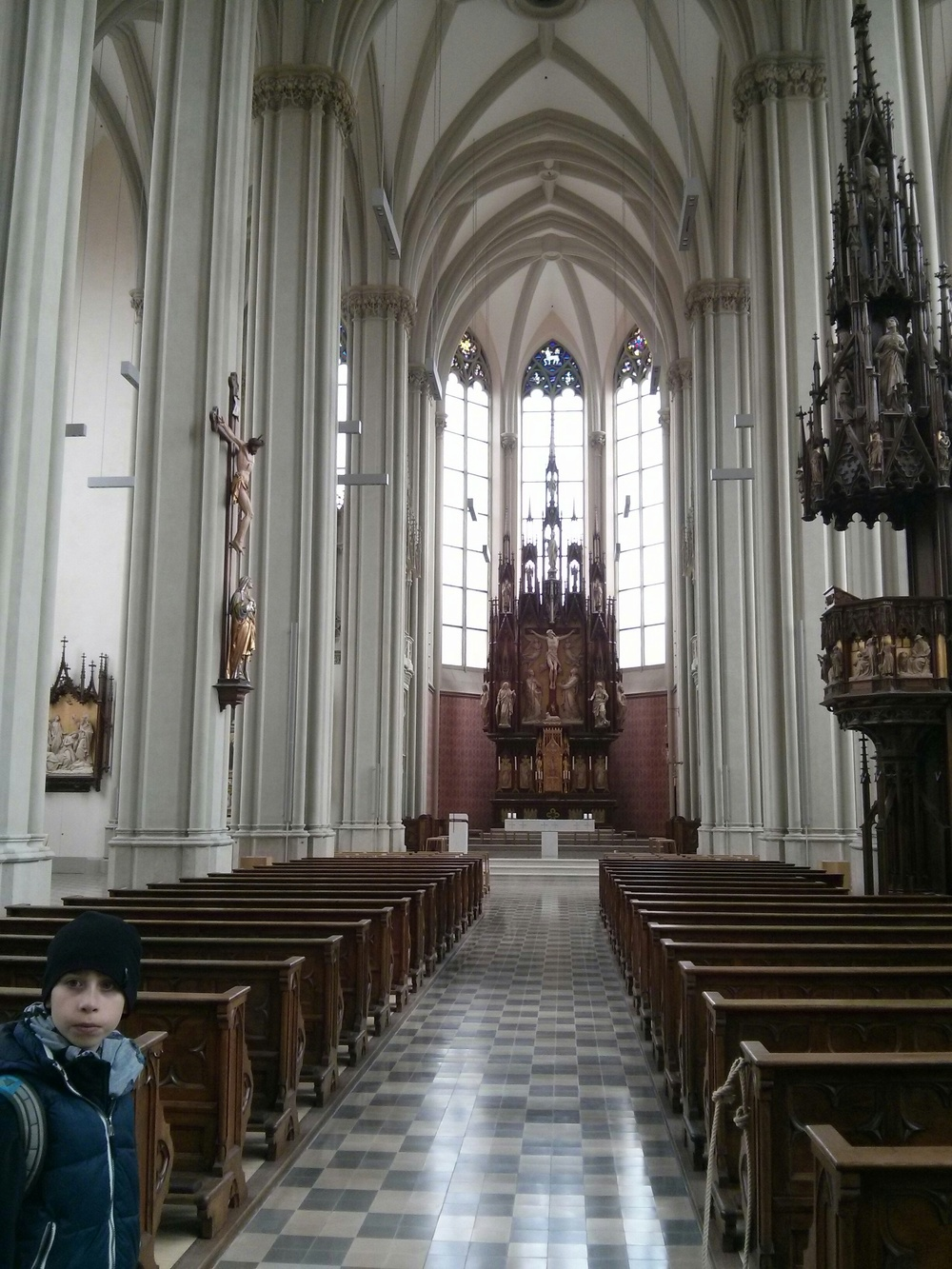 Inside of a church near where we stayed in Munich