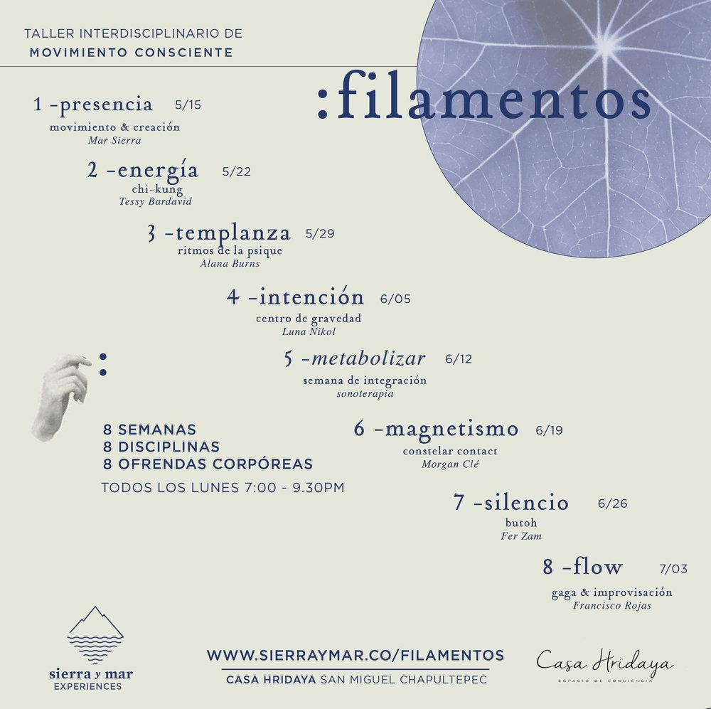 Filamentos square