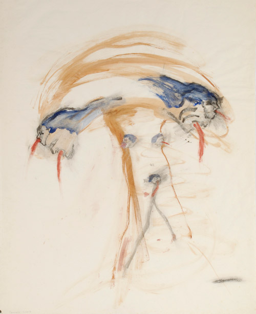 Nancy Spero, Female Bomb, 1966
