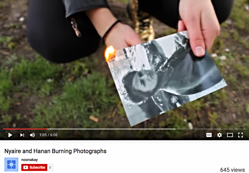 Burning a Photograph (Video)