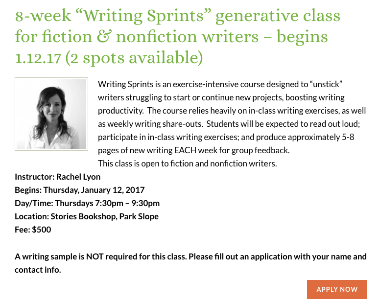 Sackett Street Writers Workshop