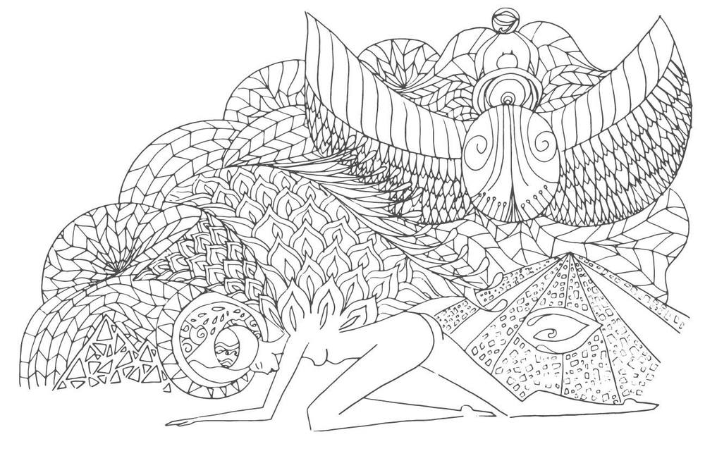 One of many beautiful images available for download in Morgan's free Adult Coloring Book: Affirmations of the Goddess.