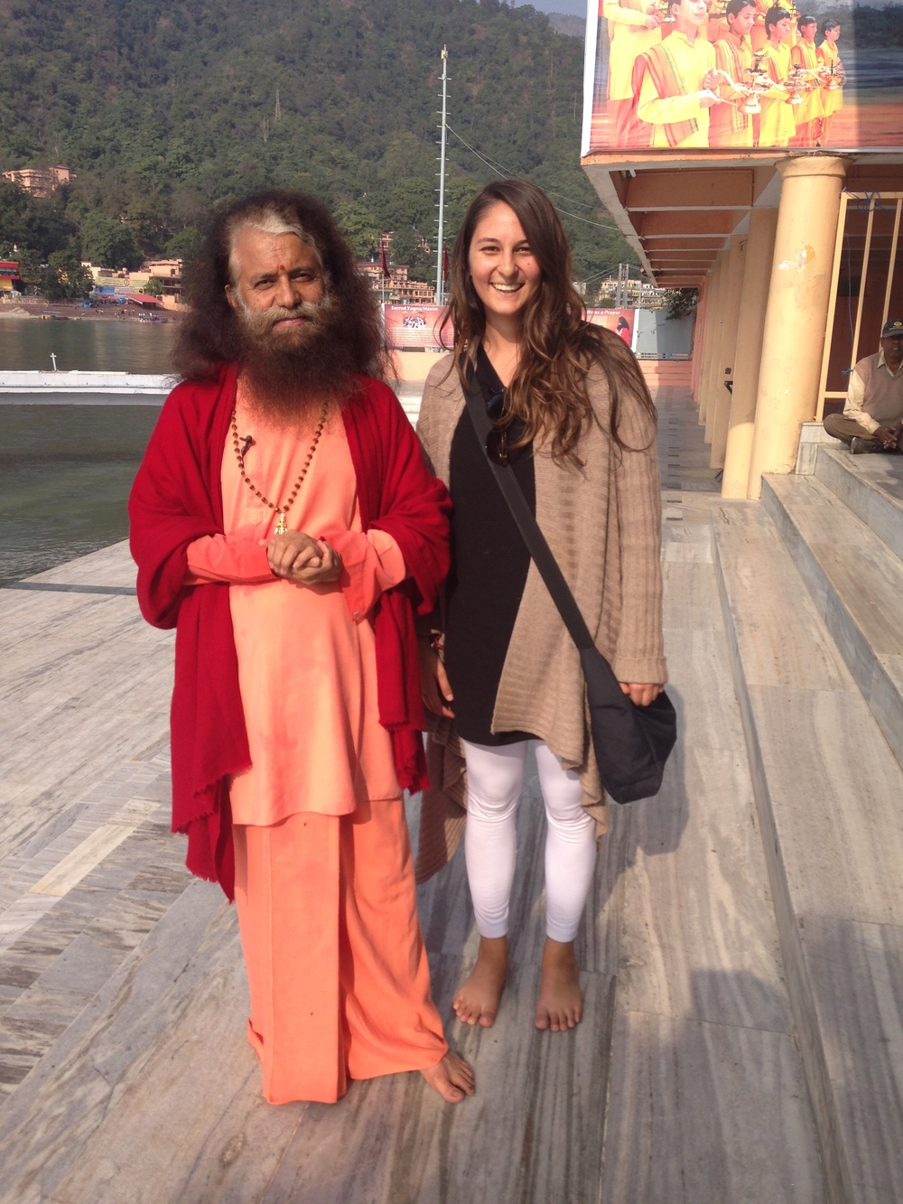 With Pujya Swami Chidanand Saraswati