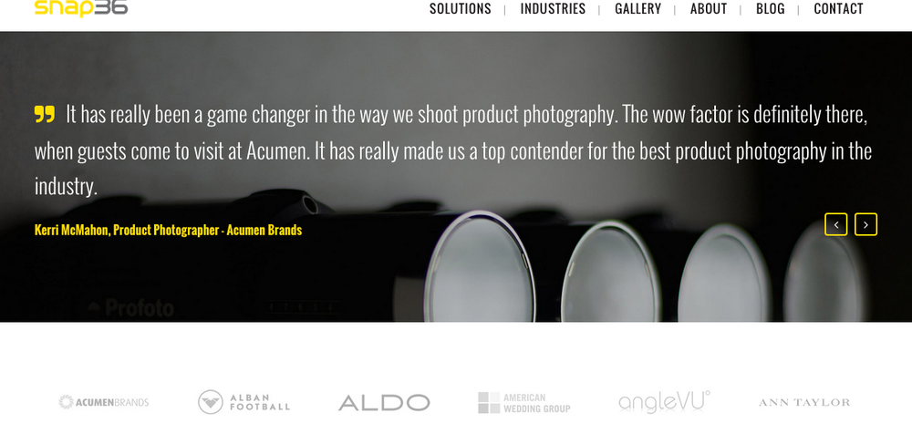 Snap36 is the platform that was used at Acumen Brands to capture 360' Photography. It has been an honor to work with them to create outstanding product photography.