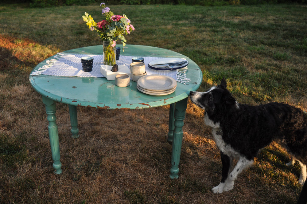 Setting-vintage-table