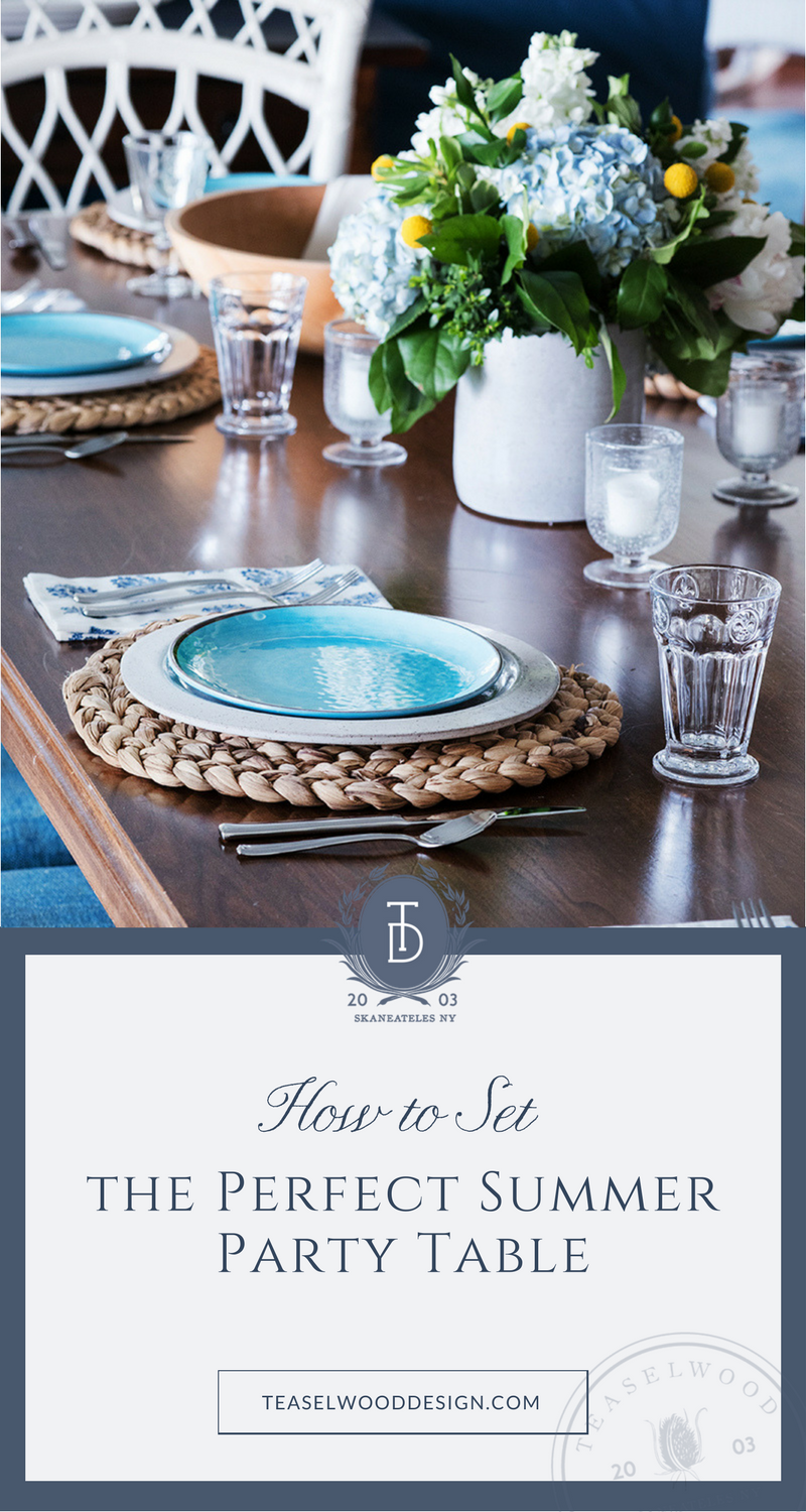 How to Set the Perfect Summer Party Table & How to Set the Perfect Summer Party Table u2014 Teaselwood Design