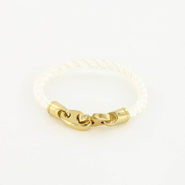 The  Endeavor Single Rope Bracelet  in White is our new winter wardrobe staple (other versions available)