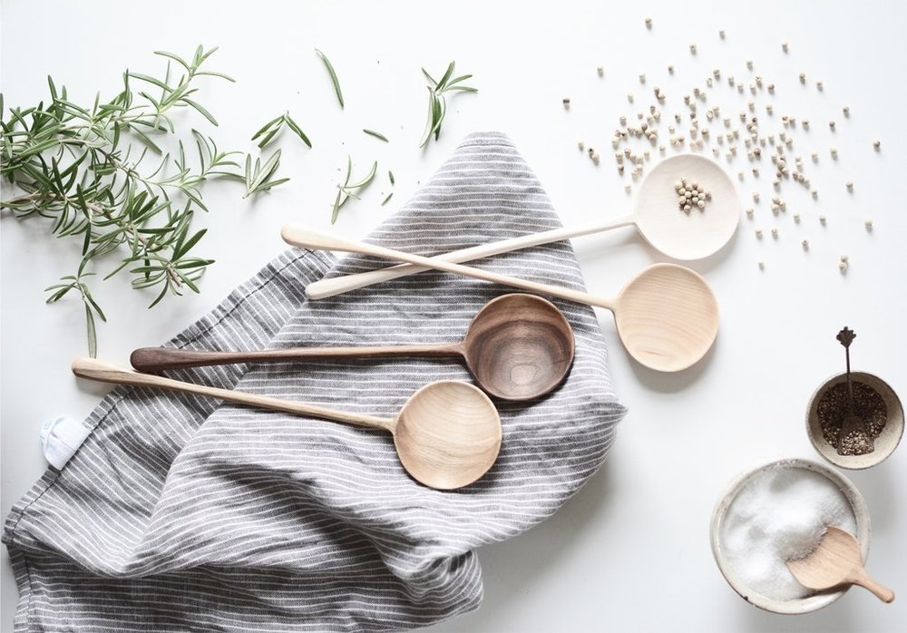 Wooden spoons as a gift? Yep, as long as they're sculptural and chic like our artisanal  Round Tear Drop Spoons !