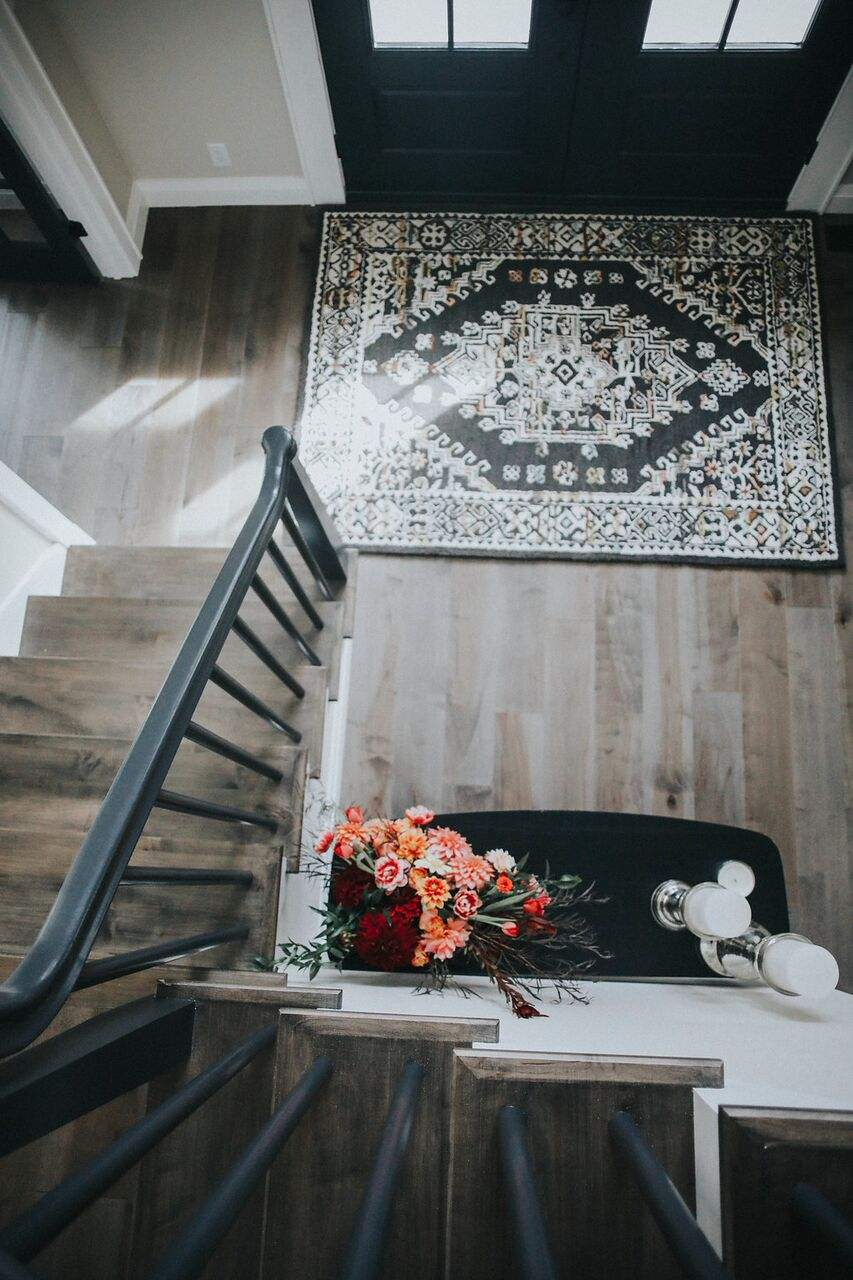 Entry staircase modern farmhouse