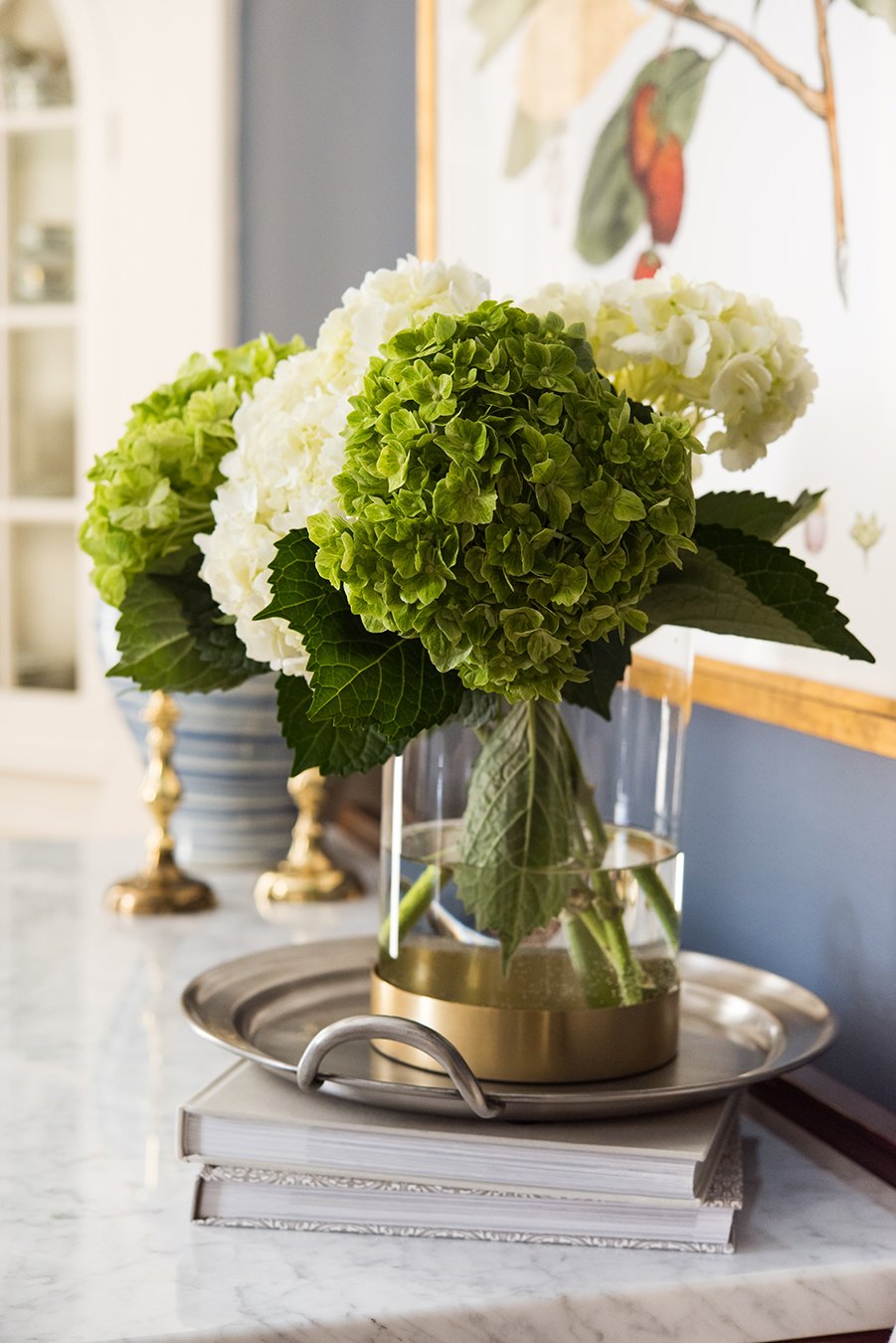 Hydrangeas arrangement