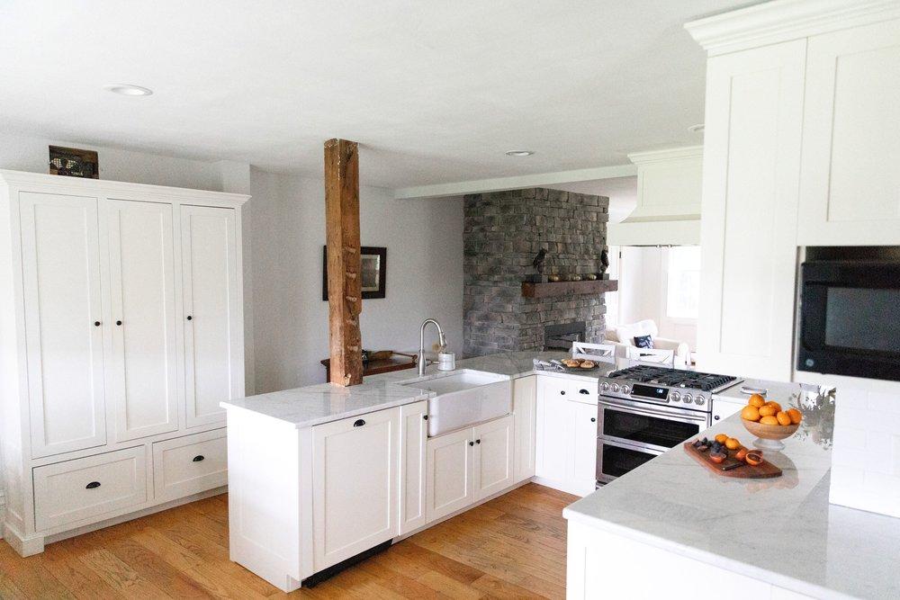 Historic home kitchen renovation Skaneateles NY interior designer