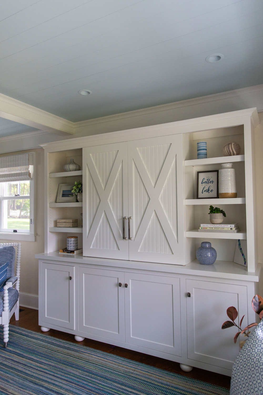 Built in storage ideas by Teaselwood Design, Skaneateles, New York interior designer