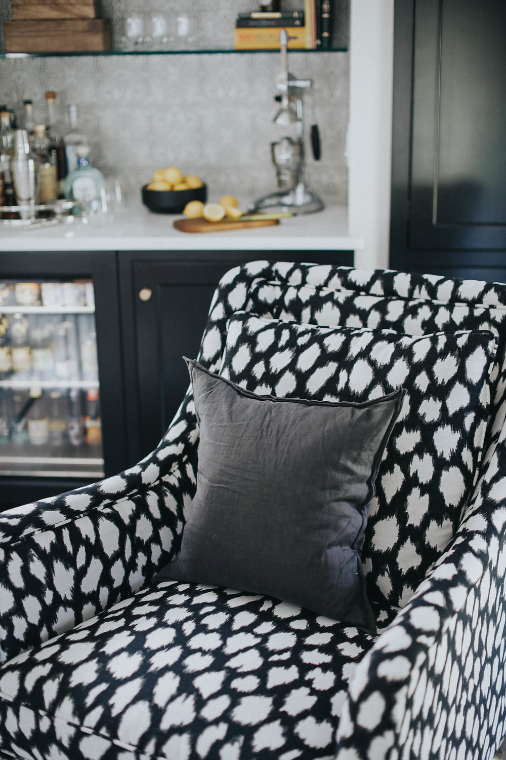 Black and white dot upholstered furniture ludlow vermont