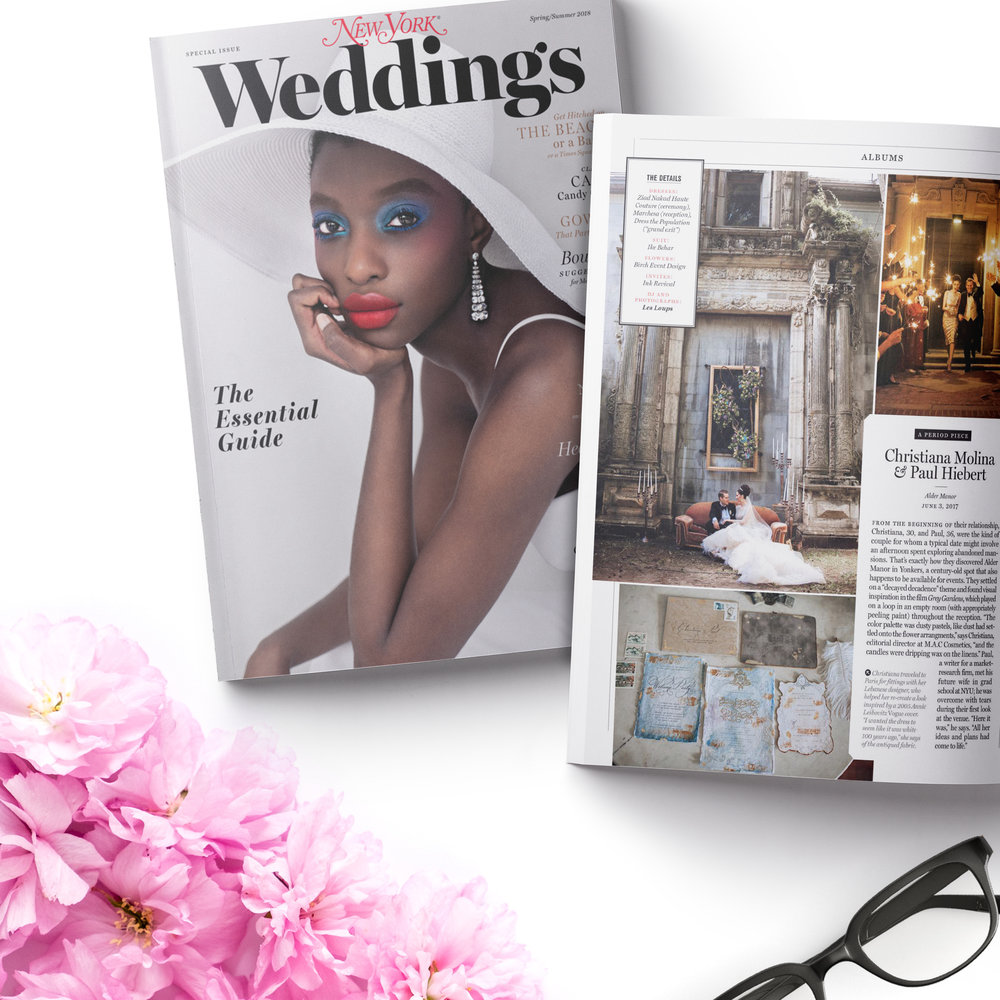 As featured in New York Weddings