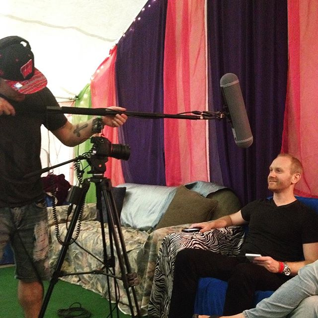"""So Phil, what do you really think of cottage cheese?"" #bhaktifestmidwest #videoshoot #behindthescenes #manwiththebeats"