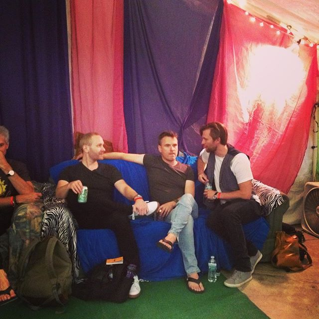 Backstage at Bhakti Fest #danceyourlove