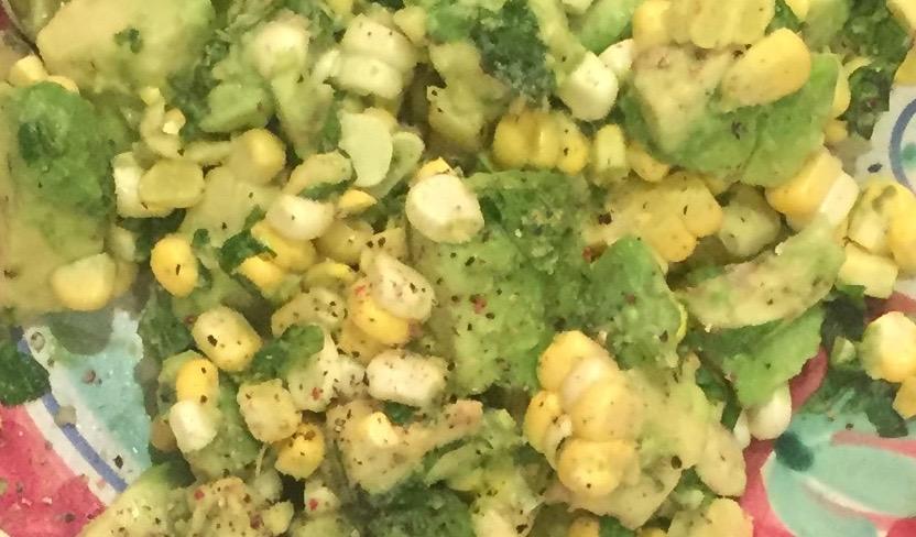 Organic Sweet Corn and Avocado Salad