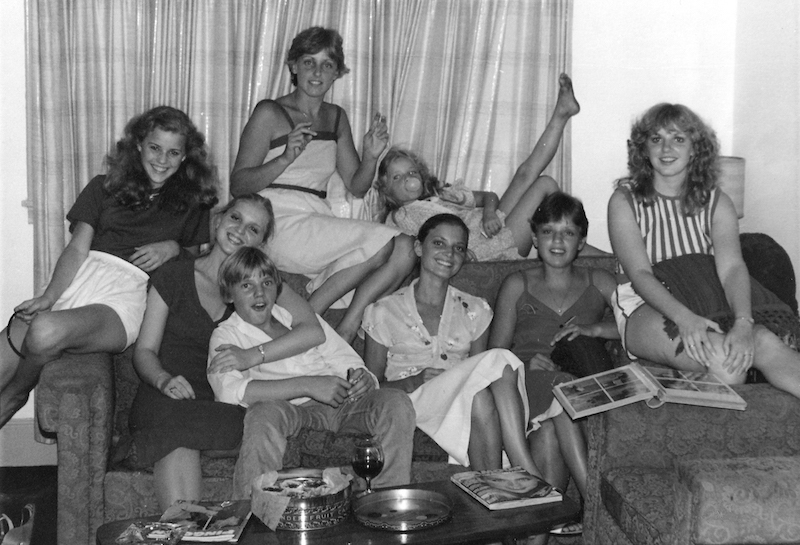 Here we are in 1980 at my sister Donna's swinging student apartment (U of Guelph). Butter tarts and wine…no wonder we get along.