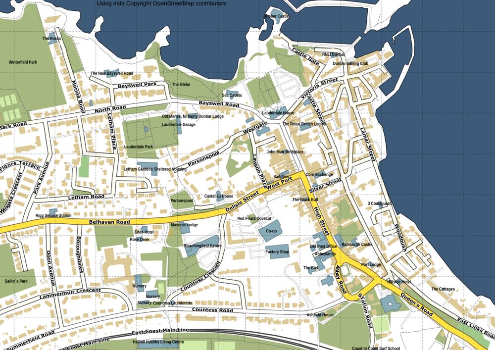 Map of Dunbar