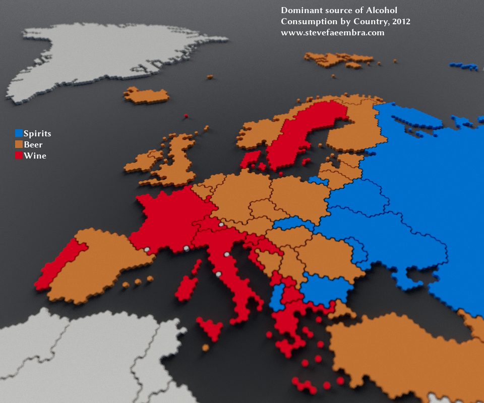 Alcohol consumption patterns in Europe