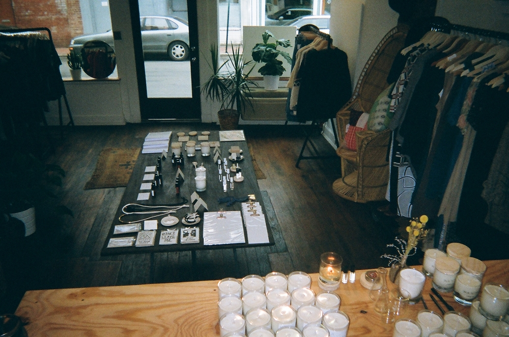 This is the second location of my friend's own creation and shop called, Na Nin. Kate is an incredible human. She's like a real life mermaid. You can see a bunch of the candles she makes. They are insanely and beautifully fragrant. She lets me work there sometimes. I am more than happy to support her and her kind and honest vision. It feels good to know other people who are as in tune to the world emotionally as you are.