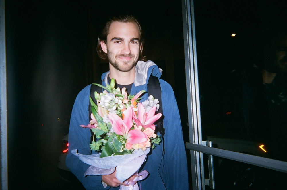 You may know this guy! Here is my love, Ethan. He surprised me with flowers on an anniversary date. We're gross. He's my favorite person in the whole universe and he moved all the way to Virginia for us to keep grooving. Amazing.