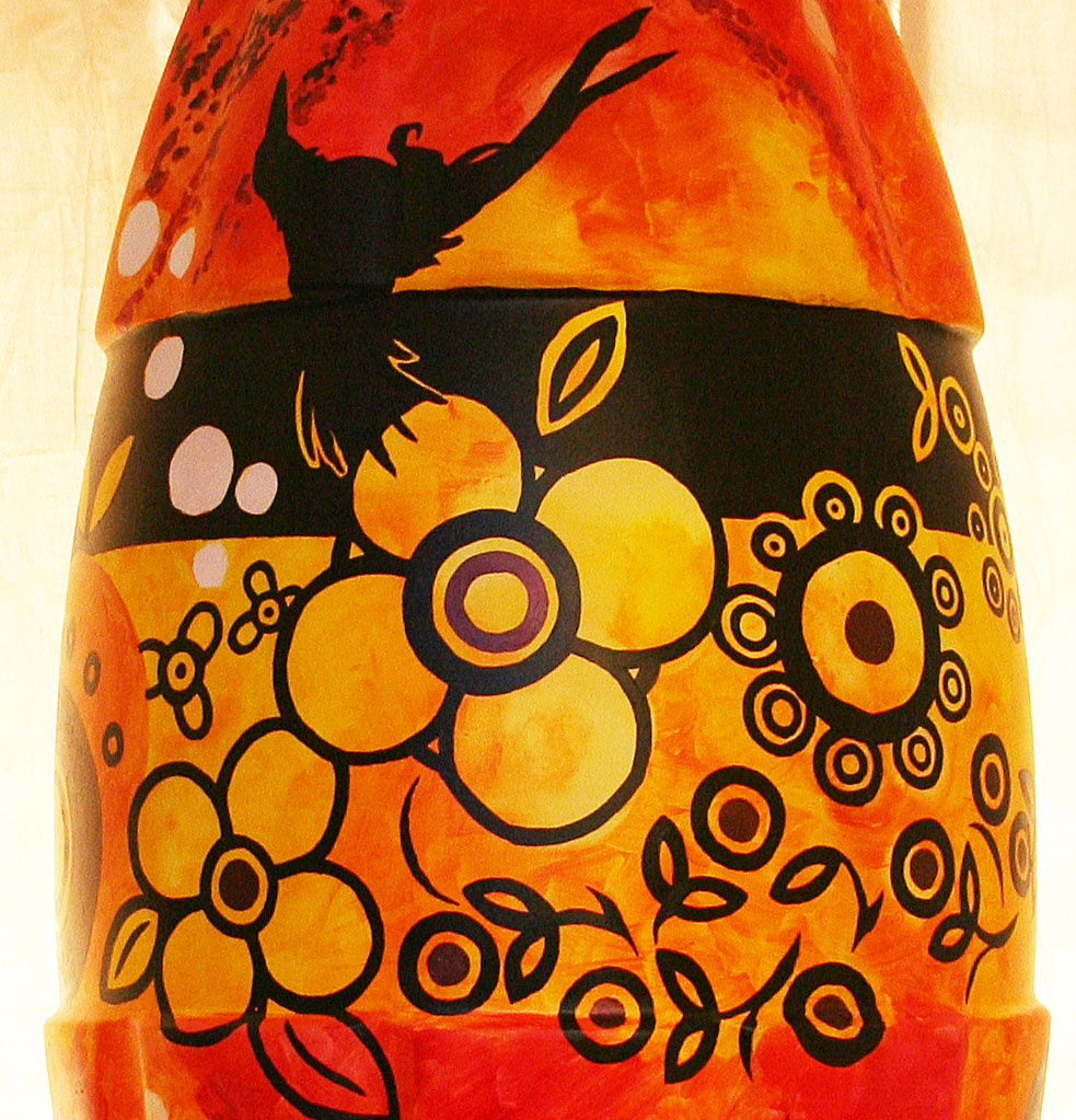 Detail of Coke bottle design by Kim Stewart